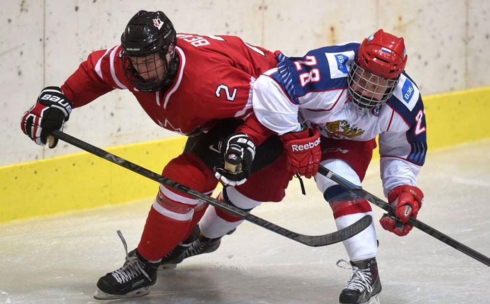 Хоккеисты юниорской сборной Российской Федерации победили канадцев вматче мемориала Глинки