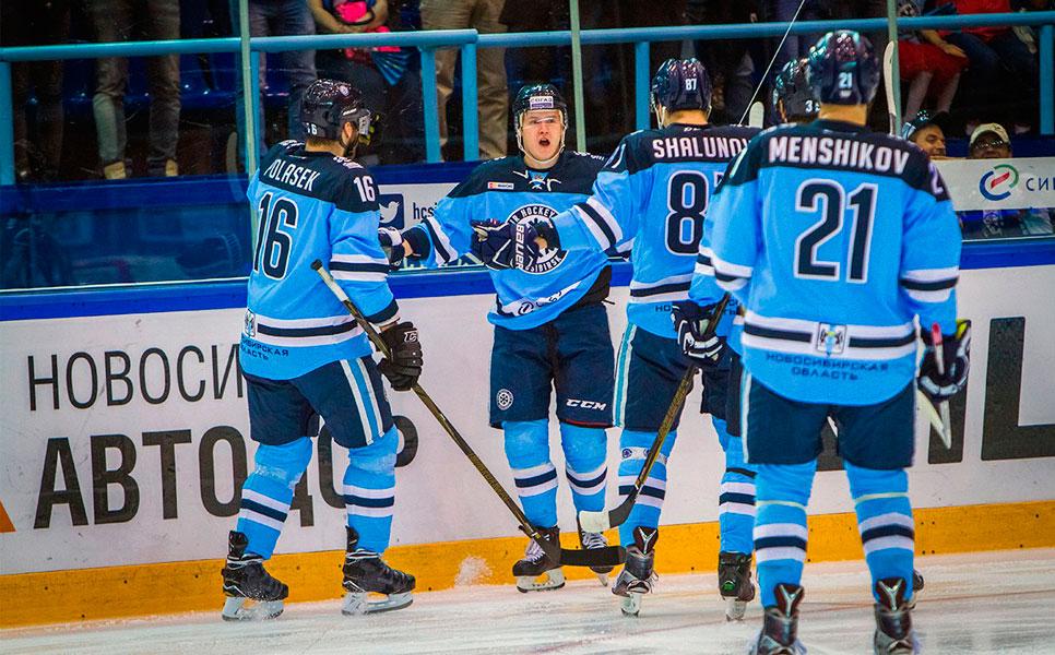 «Сибирь» разгромила «Югру» вдомашнем матче стабильного чемпионата КХЛ