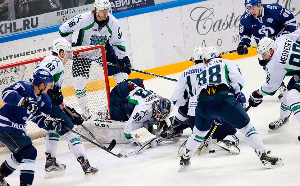 «Югра» потерпела шестое поражение подряд вКХЛ, проиграв московскому «Динамо»