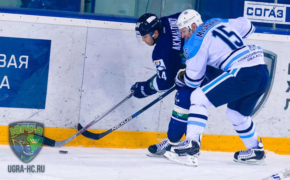 Хоккейная «Сибирь» проиграла «Югре» срезультатом 2:3 вовертайме